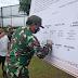 Dandim 0306/50 Kota Hadiri Deklarasi Pemilihan Aman Damai Dan Sehat Pikada Kabupaten 50 Kota Tahun 2020.,