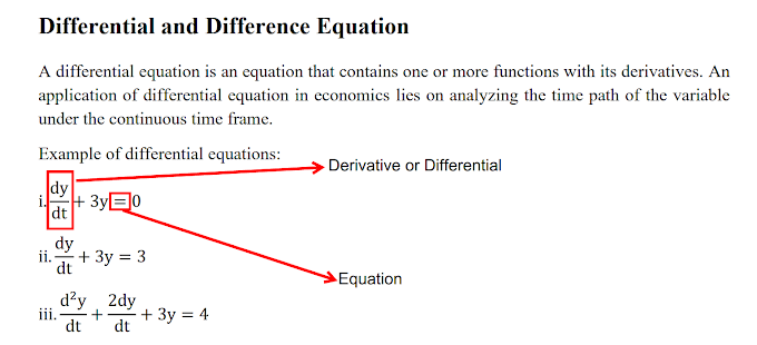 Difference and Differential Equation