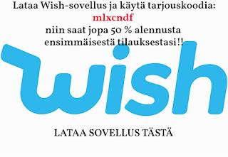 Lataa Wish-sovellus ja käytä tarjouskoodi mlxcndf ensimmäiseen ostokseesi, niin saat jopa 50 % alennusta! Lataa sovellus tästä