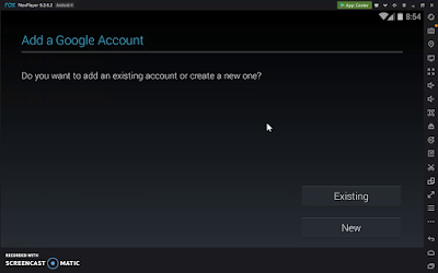 Screenshot: Step 3 How to add an Google Account on Nox Player