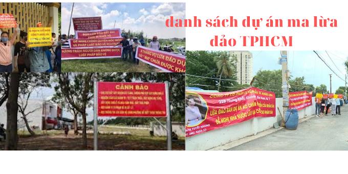 Tổng hợp danh sách các dự án lừa đảo bất động sản Sài Gòn - TPHCM và các tỉnh