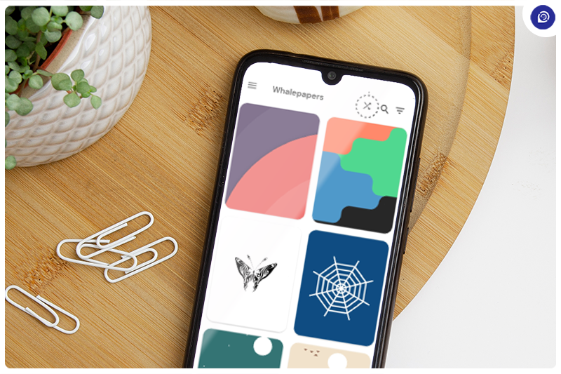 Get Cool & Minimal Wallpapers With Whale Papers.