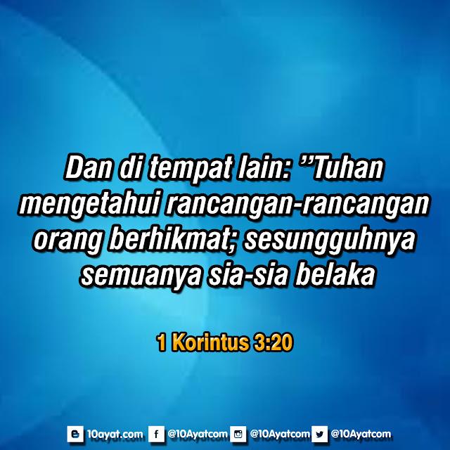 1 Korintus 3:20