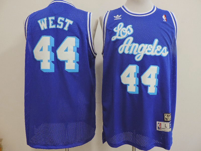 finest selection c1b8c 3c05c white and blue lakers jersey