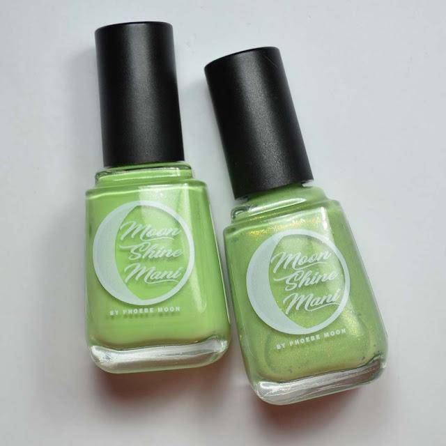 green nail polish in bottles
