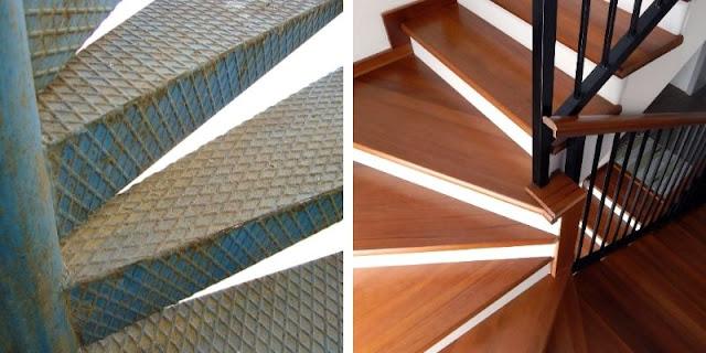 tangga besi vs kayu