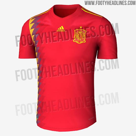 Camiseta suplente España Rusia 2018
