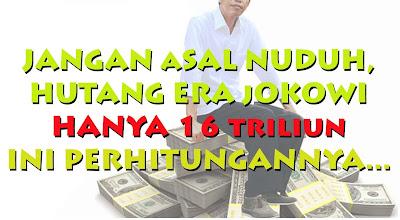 Perhitungan Hutang Jokowi-JK