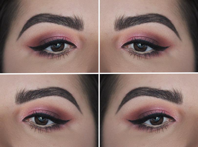 pink rose mauve drugstore makeup look daytime smokey eye nyx coastal scents mac kitschmas pigment winged liner