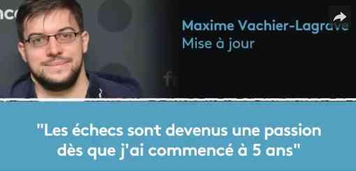 Maxime Vachier-Lagrave, meilleur joueur français d'échecs, était l'invité de Mise à jour