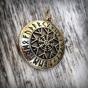 купить бронзовые кулоны латунные кулоны необычные украшения амулеты обереги агисхьяльм