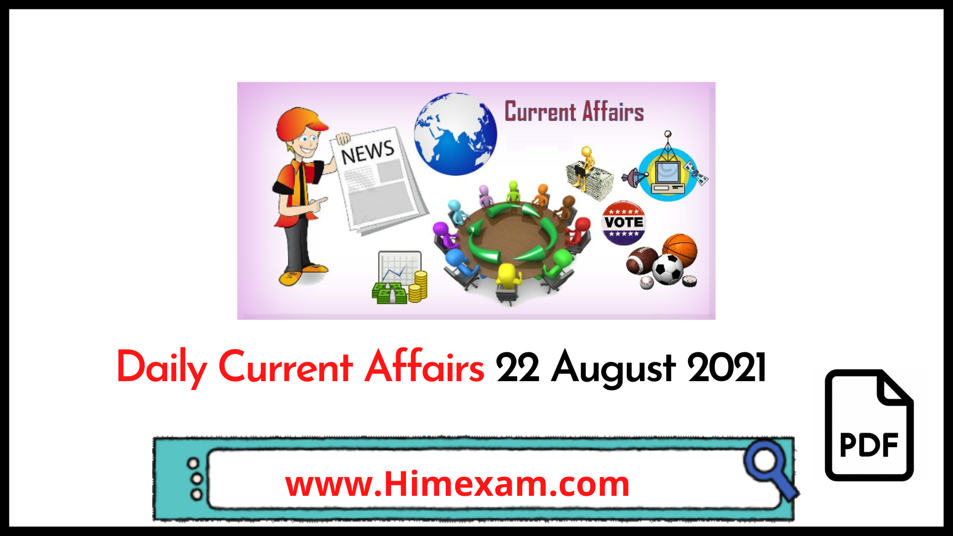 Daily Current Affairs 22 August 2021