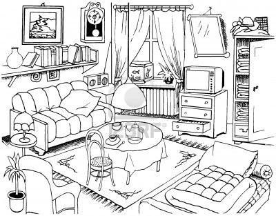 le salon un salon le sejour un tapis une table une lamp un canape - dessiner une maison en 3d