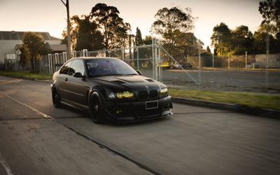 BMW Noire M3 E46 Tuning - Fond d'Écran en Full HD 1080p