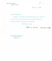 Roosevelt to Churchill, 1 January 1904