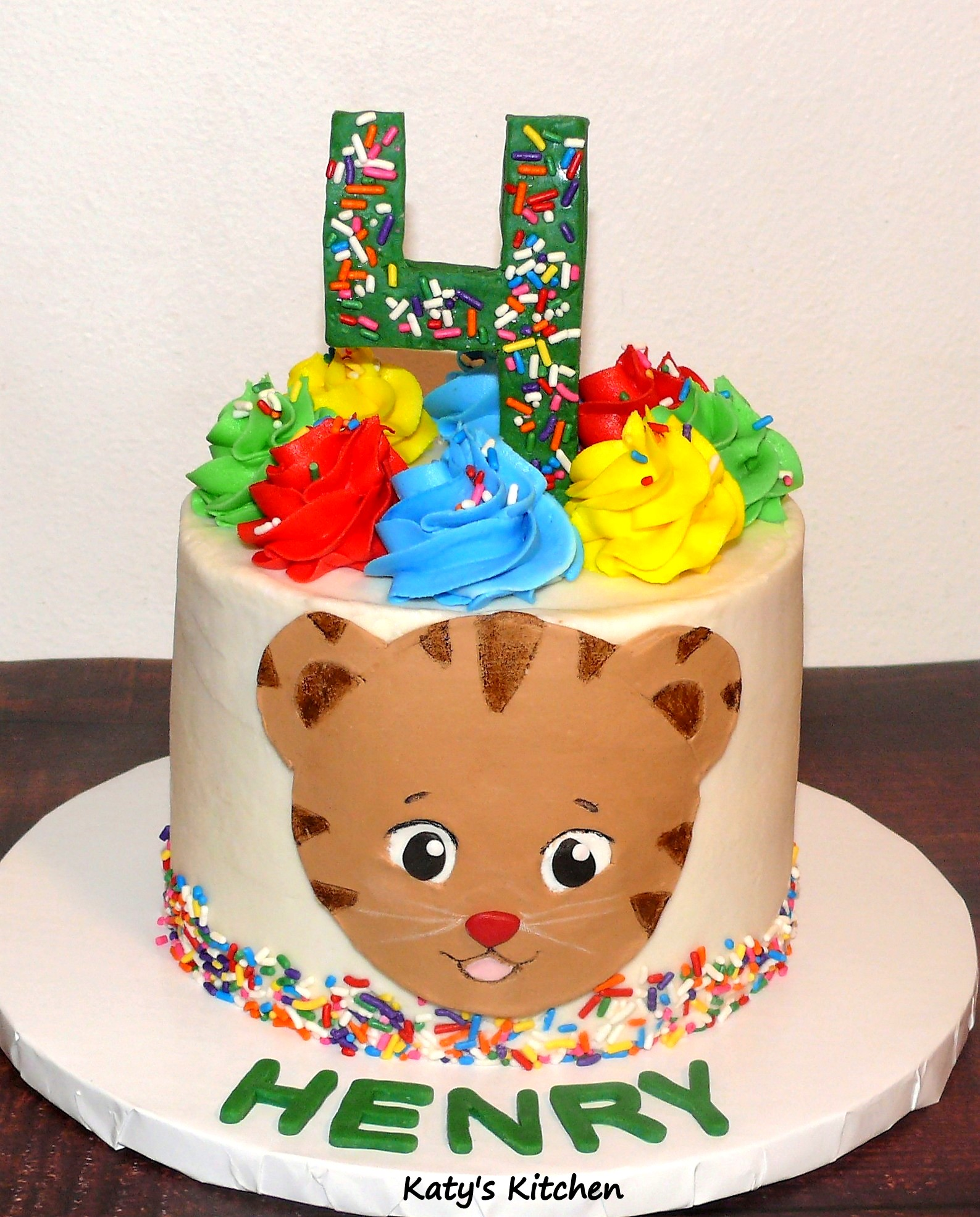 Katy S Kitchen Daniel Tiger Birthday Cake