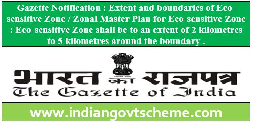Zonal Master Plan for Eco-sensitive Zone