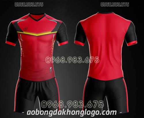 Áo bóng đá ko logo TA Ste màu đỏ