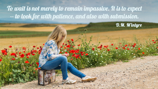 Quote on what it means to wait on God in prayer