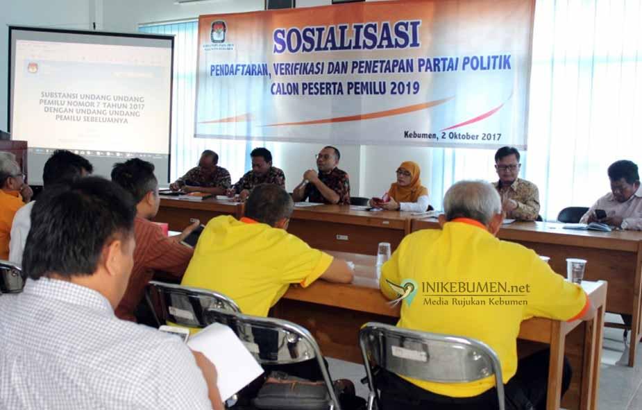 Mulai Hari ini, KPU Kebumen Buka Pendaftaran Parpol