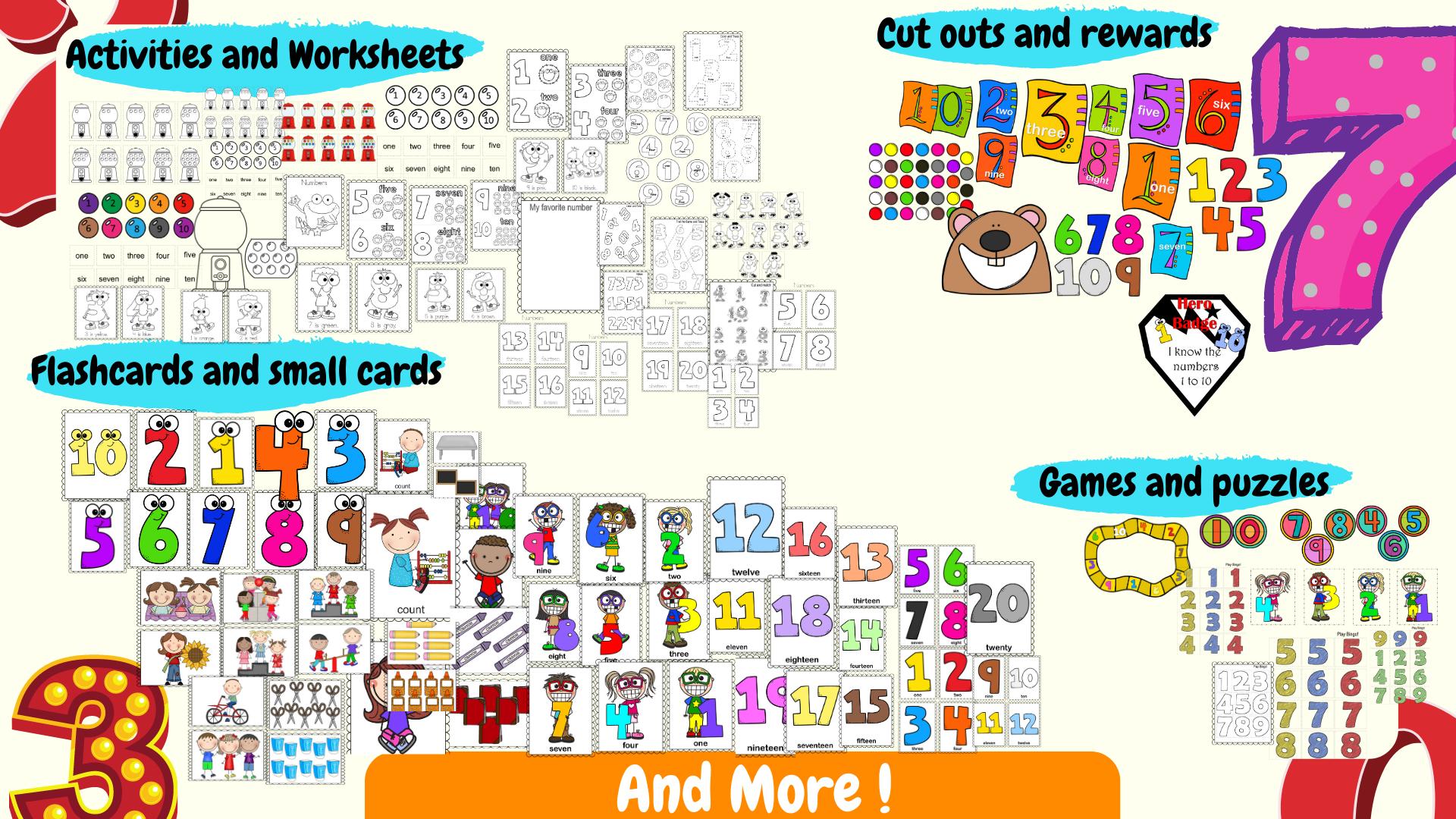 Esl Efl Preschool Teachers Numbers Theme For Kindergarten