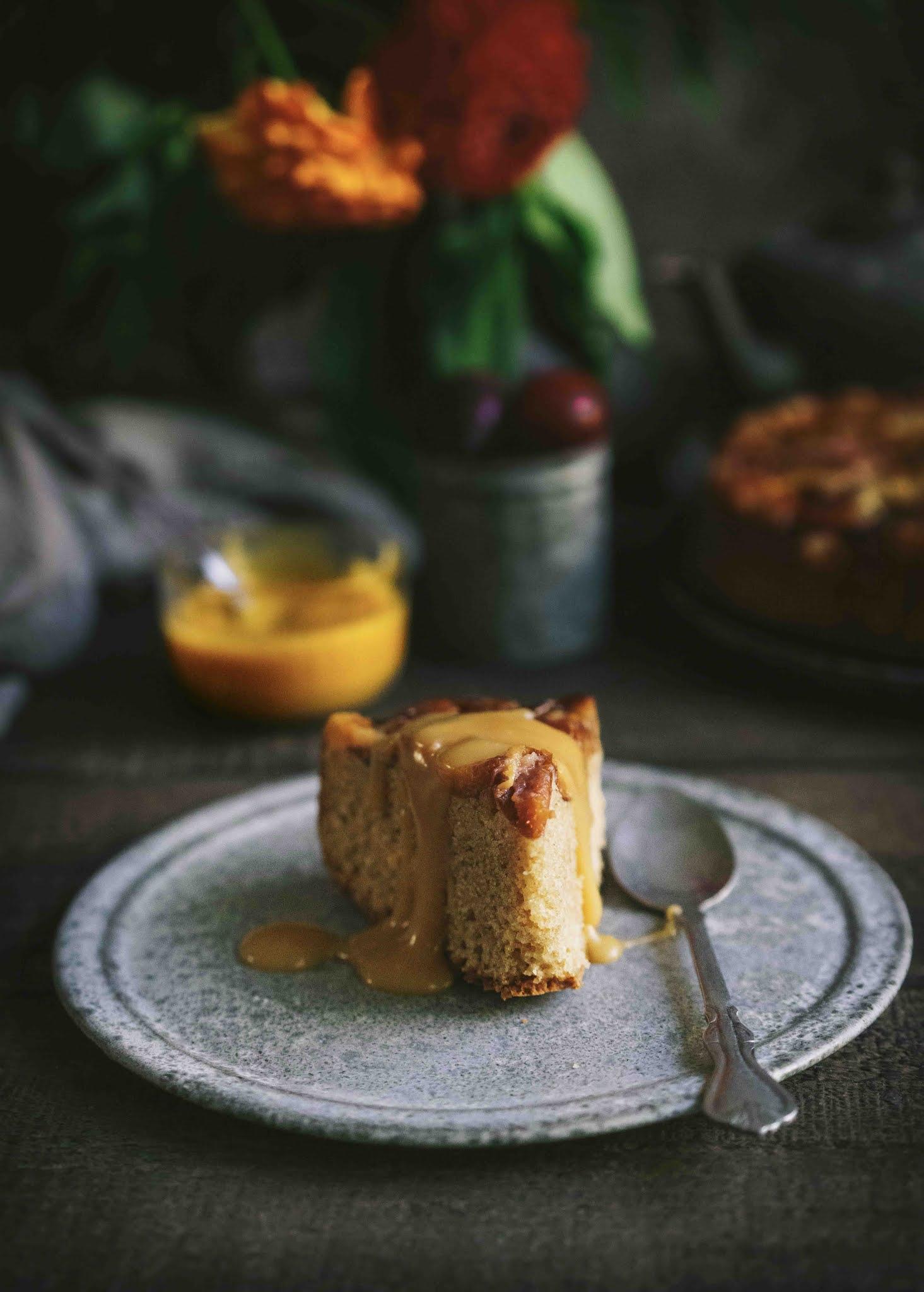 gateau , dessert d'automne, prunes , quetsches