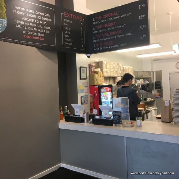 order counter at Rooster & Rice in San Francisco, California