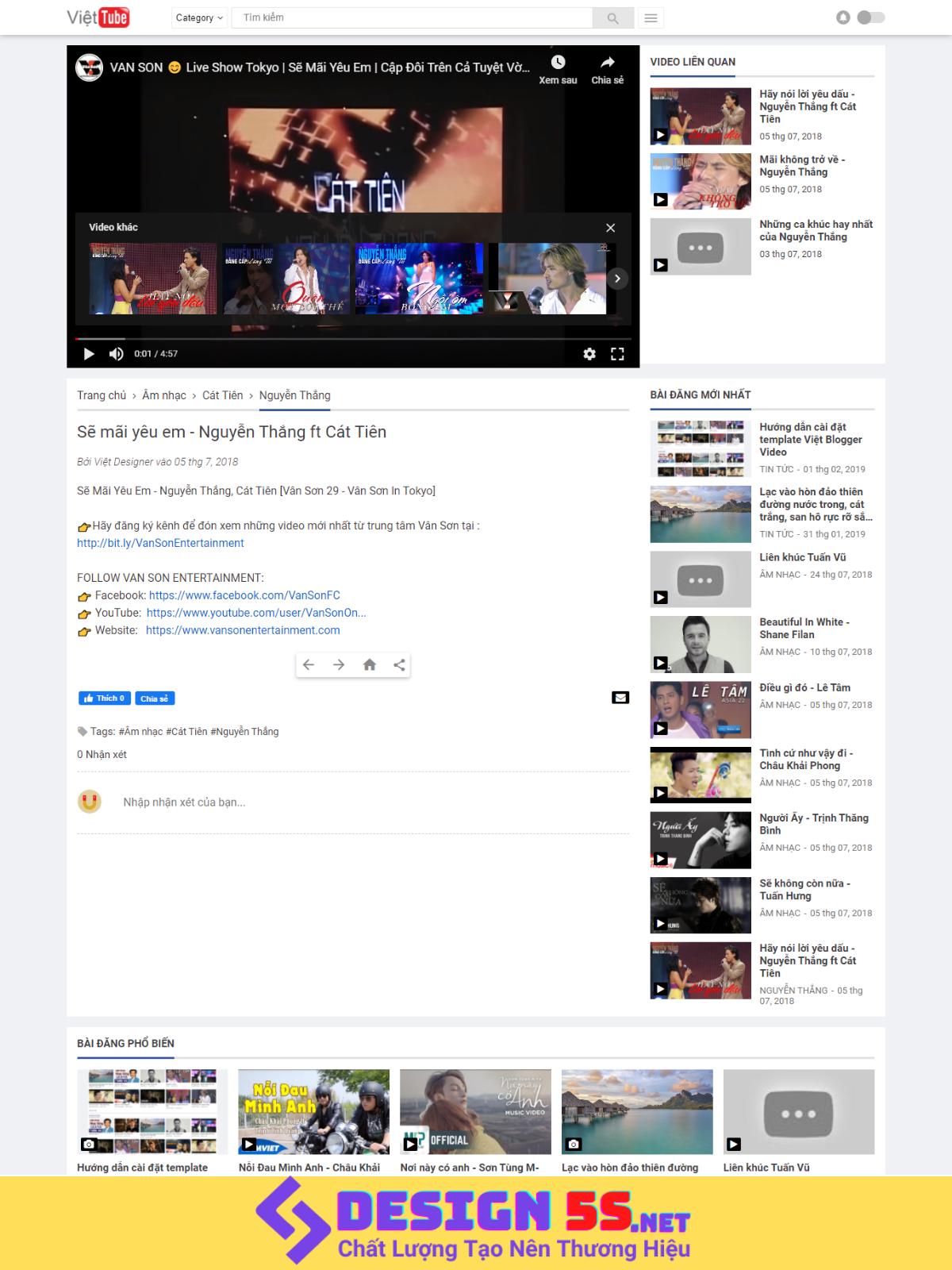 YouTube API Video Blogger Template Version 3.0 - Ảnh 2