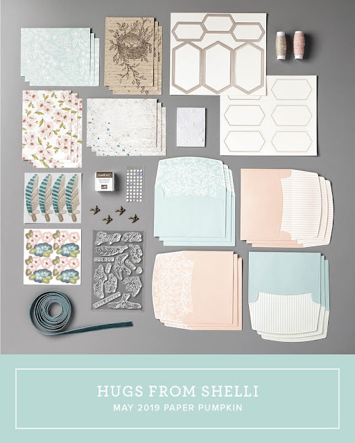 May 2019 Hugs From Shelli Paper Pumpkin card kit