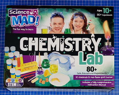 Science Mad Chemistry Lab (age 10+) box cover shot showing children doing science