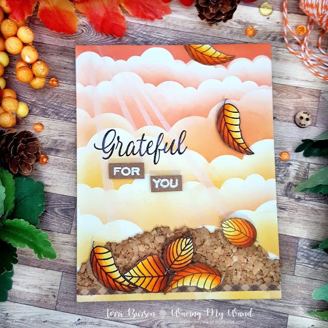 Sunny Studio Stamps: Elegant Leaves Customer Card by Terri Burson
