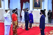 Presiden Lantik Laksdya TNI Yudo Margono sebagai KSAL dan Marsdya TNI Fadjar Prasetyo Sebagai KSAU di Istana Negara