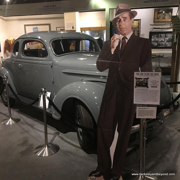 Humphrey Bogart memorabilia displayed at Museum of Western Film History in Lone Pine, California