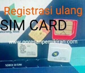 Registrasi ulang sim card