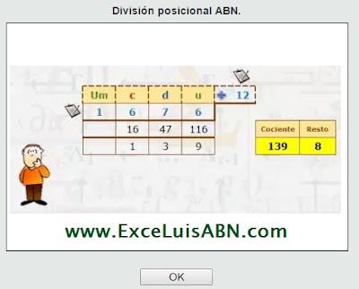 División posicional ABN.