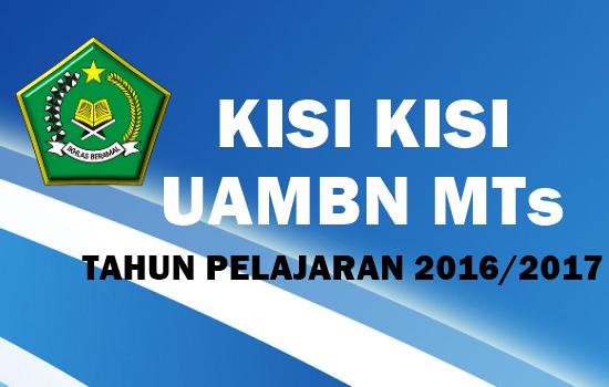 Download Kisi Kisi Uambn Mts Tahun Pelajaran 2016 2017 Guru Madrasah