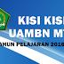 Download Kisi Kisi UAMBN MTs Tahun Pelajaran 2016-2017
