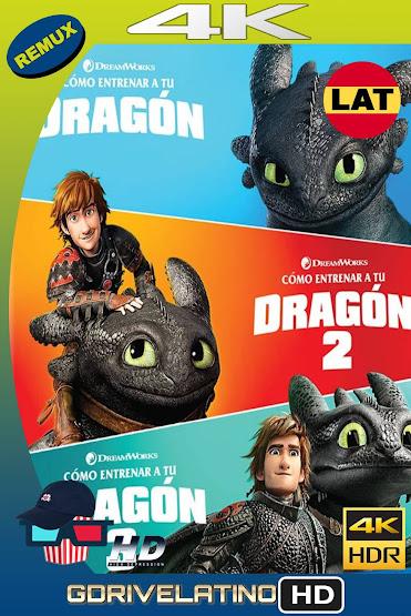 Cómo Entrenar a tu Dragón [Trilogía] BDRemux 4K HDR Latino-Ingles MKV