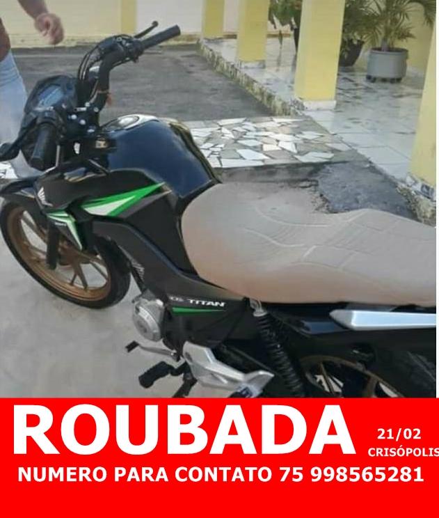 Homem é rendido e tem moto roubada em Crisópolis