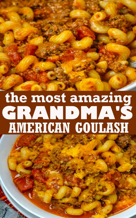 GRANDMA'S AMERICAN GOULASH #GRANDMA'S #AMERICAN #GOULASH
