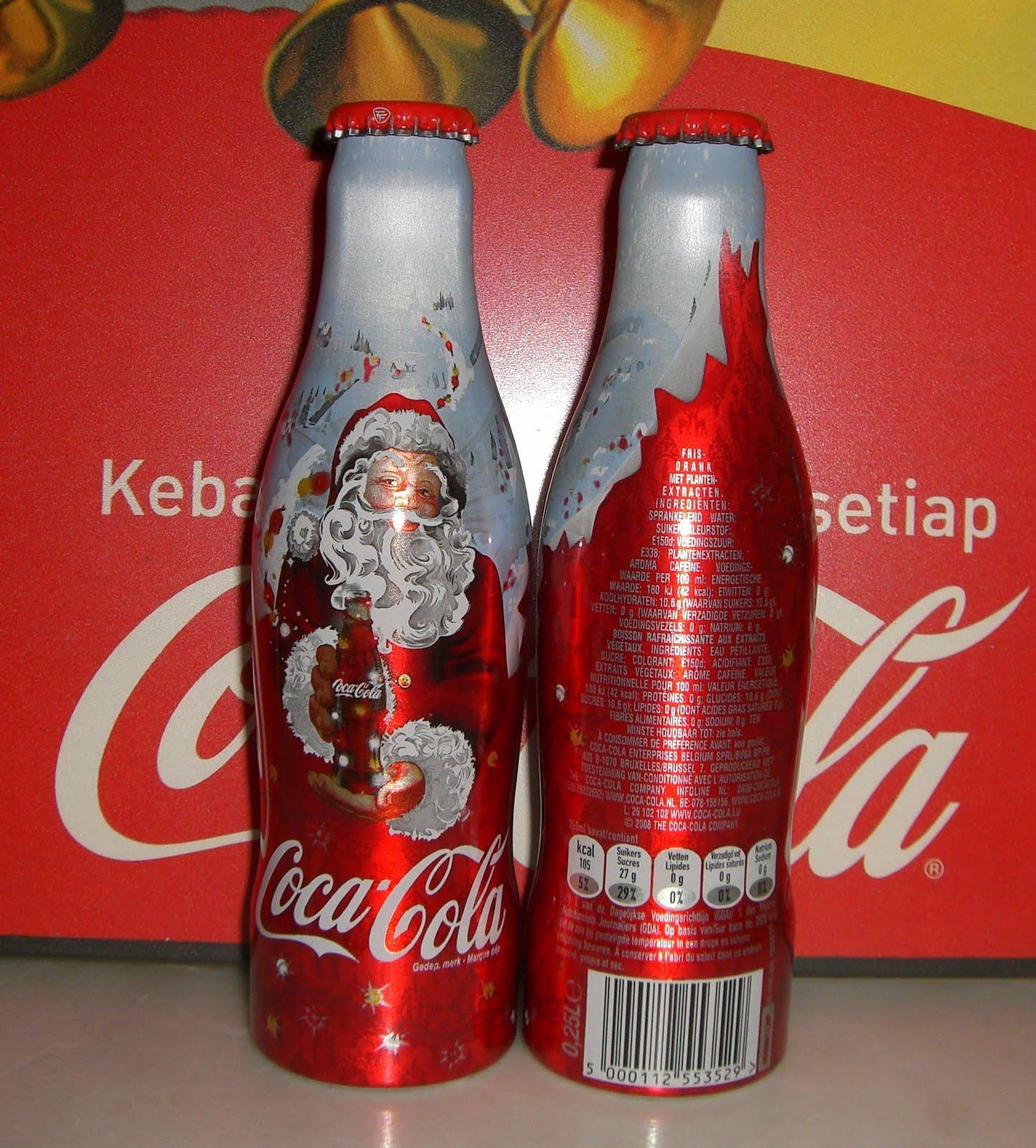 Coca Cola Christmas Bottle.Aluminum Bottle Collector Club Coca Cola Christmas Aluminum