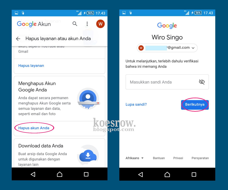Cara Menghapus Akun Google Bebas Ribet Koesrow