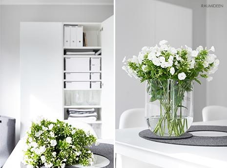 Blumendeko mit Flox für Puristen.