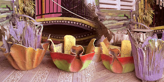 Pot tanaman hahah dasar handful bekas dan semen