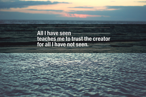 Quotes on Allah - All I Have seen