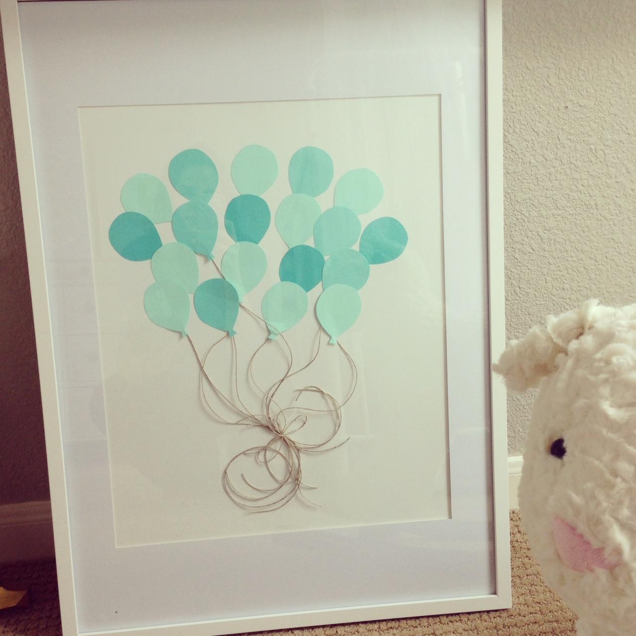 Diy Nursery Artwork Pretty Balloons