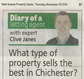 CRJ Lettings column in Chichester Observer property newspaper