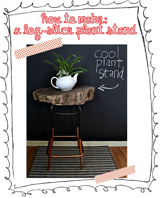 how to make: a log-slice plant table