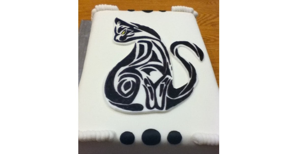 Carpe Cakem Seize The Cake Tribal Cat