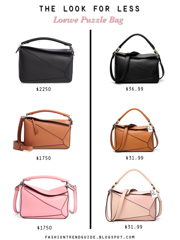 Loewe Puzzle bag dupes and replicas